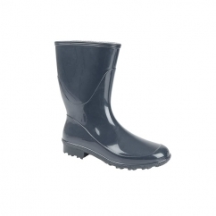Ladies Low Calf Wellington Boots Navy