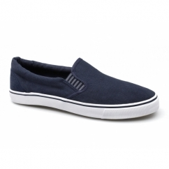 LAMAAR Unisex Canvas Yachting Deck Shoes Navy