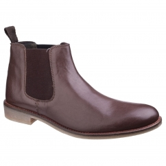 Lambretta FLEET Mens Chelsea Boots Brown