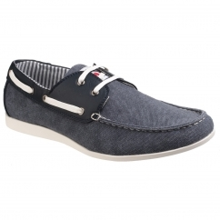 Lambretta RHODE ISLAND Mens Boat Shoes Denim Blue
