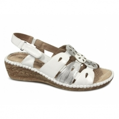LANA Ladies Open Sandals White/Silver