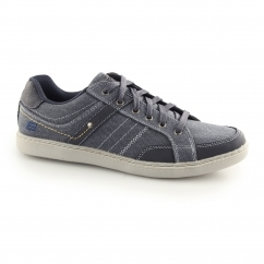 Skechers LANSON-MESTEN Mens Canvas Trainer Shoes Navy