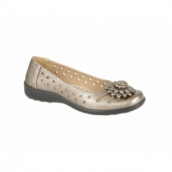 LAURIE Ladies Floral Brooch Flats Bronze
