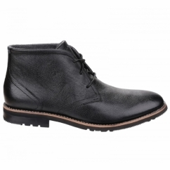 LEDGE HILL 2 Mens Lace Leather Chukka Boots Black