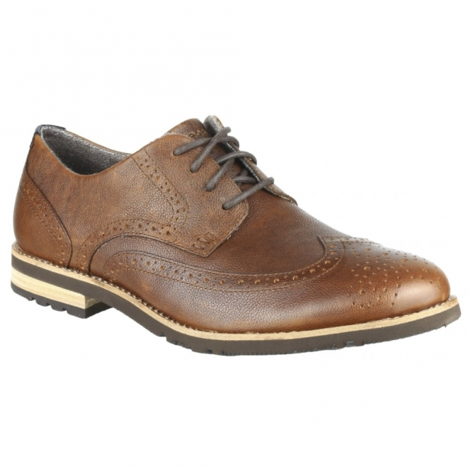 Rockport LEDGE HILL 2 WINGTIP OXFORD Mens Leather Brogue Shoes Brown