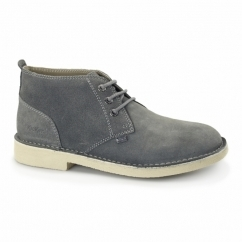 LEGENDARY Mens Suede Desert Boots Grey/Nat