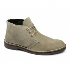 LENNY Mens Suede Leather Desert Boots Sand
