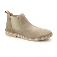 LEO Mens Suede Chelsea Boots Coconut