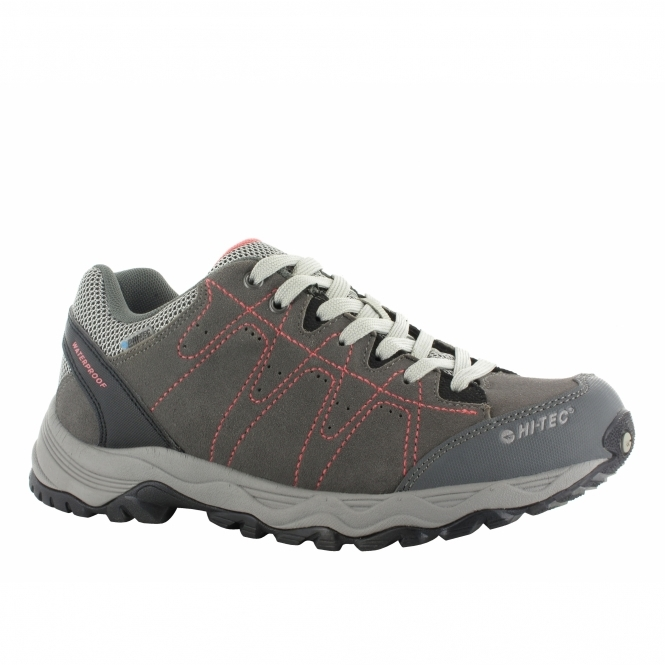 Hi-Tec LIBERO II WP Ladies Multi-Sports Trainers Charcoal/Blossom