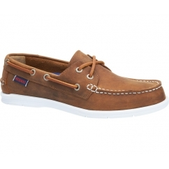 Sebago LITESIDES Ladies Leather Boat Shoes Medium Brown