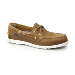 Sebago LITESIDES Mens Leather Two Eye Boat Shoes Brown