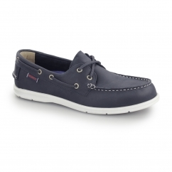 Sebago LITESIDES Mens Leather Two Eye Boat Shoes Navy