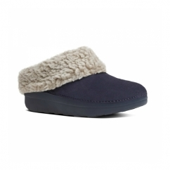LOAFF™ SNUG Ladies Suede Mule Slippers Navy