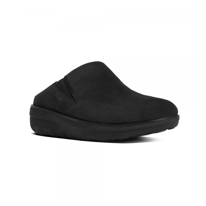 FitFlop™ LOAFF™ SUEDE Ladies Suede Mule Clogs Black