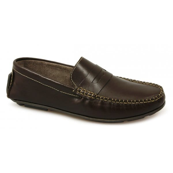 Vintage Land Rover Mens Loafer Driving Moccasin Brown: Buy Luca Mancini Mens Leather Moccasin Driving Loafers