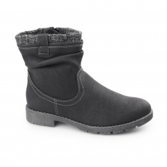 LUCCA Ladies Ankle Boots Black