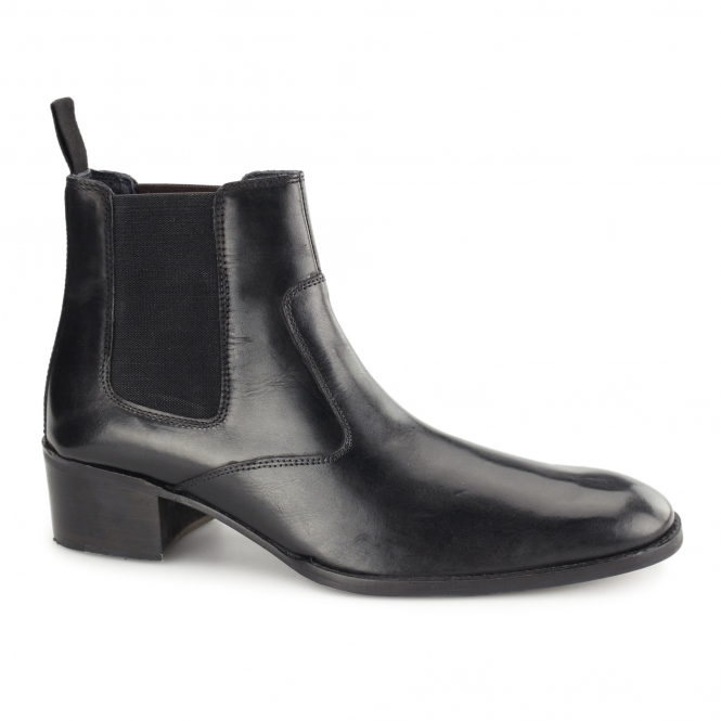 Gucinari LUCCA Mens Leather Chelsea Boots Black