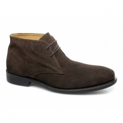 HARRISON Mens Suede Chukka Boots Brown