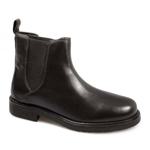 lucini mens soft leather pull on chelsea boots brown buy at shuperb. Black Bedroom Furniture Sets. Home Design Ideas