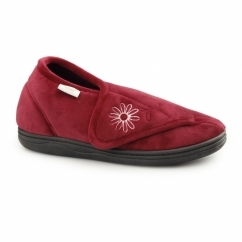LUCY Ladies Full Slippers Burgundy