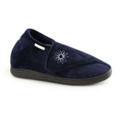 LUCY Ladies Full Slippers Navy