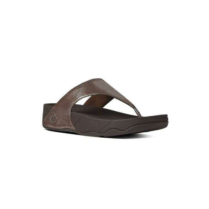 FitFlop™ LULU SHIMMERSUEDE™ Ladies Suede Toe Post Sandals Bronze
