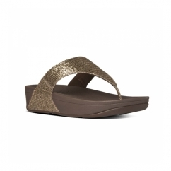 LULU SUPERGLITZ™ Ladies Shimmer Toe Post Sandals Copper