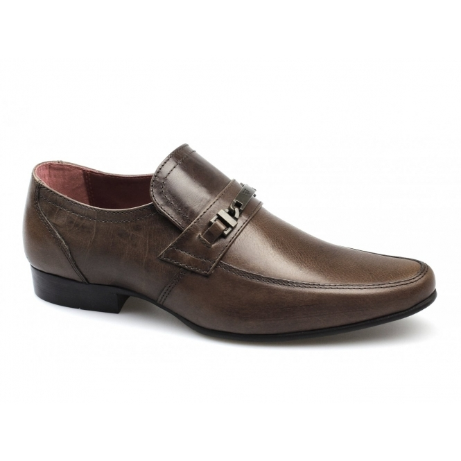 Red Tape LUTHER Mens Leather Buckle Strap Shoes Brown