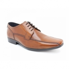 LYTHAM Mens Waxy Leather Lace-Up Shoes Tan