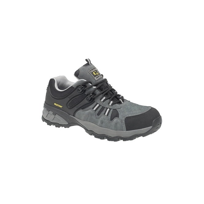 Grafters M504F Unisex SB SRA Metal-Free Safety Trainers Grey