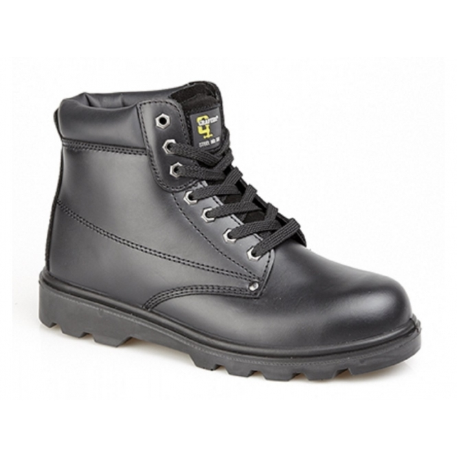 Grafters M569A Unisex S1 SRC Padded Safety Boots Black