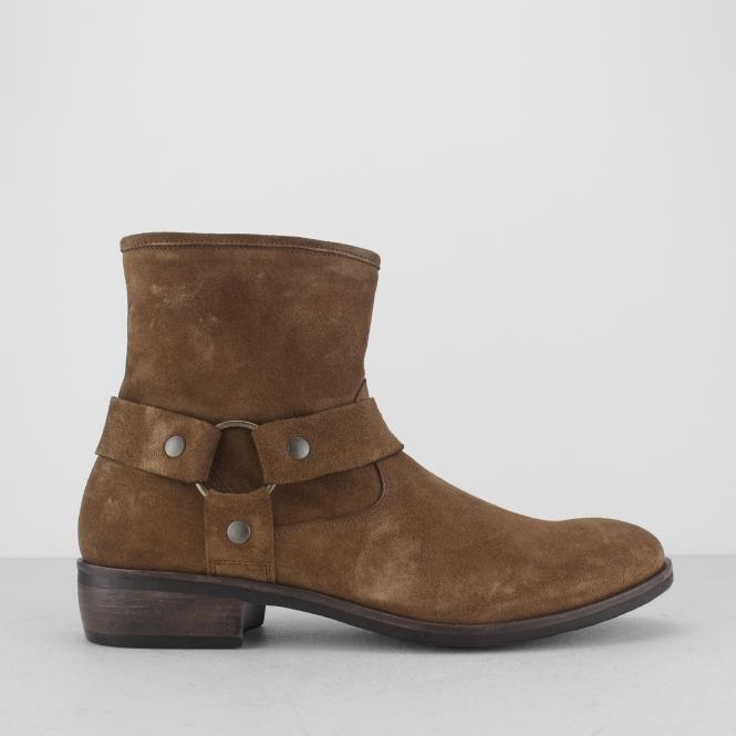 c03ea177ea0 Machete CALICO Mens Suede Leather Harness Zip Boots Brown | Shuperb