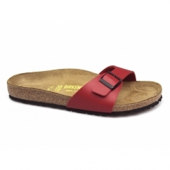 MADRID Ladies Buckle Flat Sandals Cherry