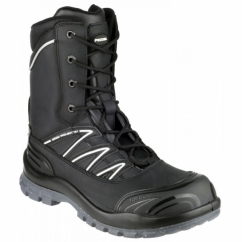 MAGELLAN Mens Steel S3 HRO SRC W/P Safety Boots Black