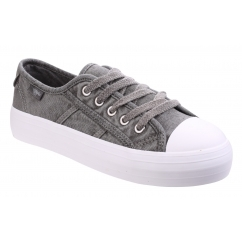 MAGIC GUNNER Ladies Canvas Trainers Grey