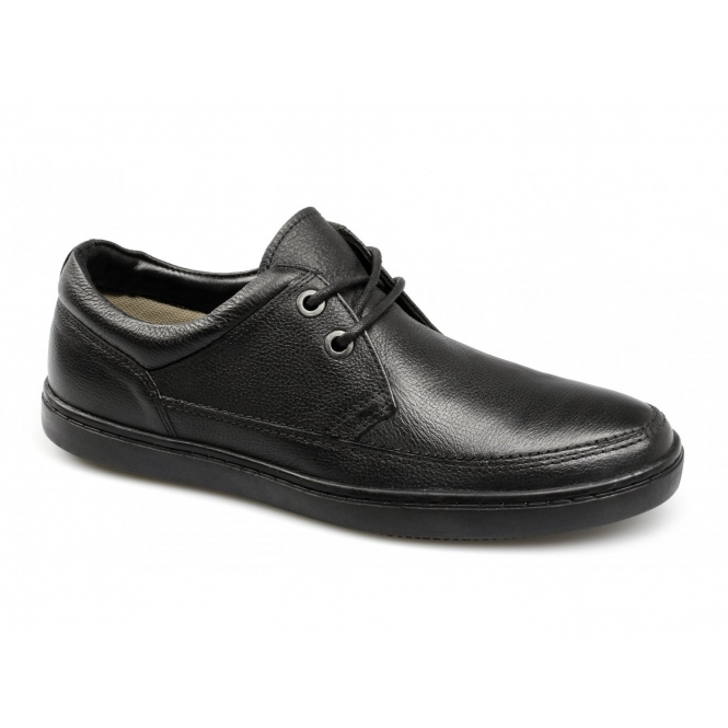 Red Tape MARDEN Mens Milled Leather Lace-Up Shoes Black