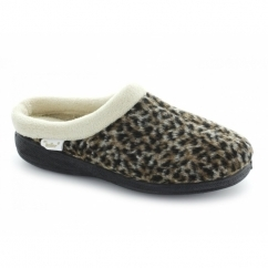 MARTHA Ladies Soft Mule Slippers Leopard