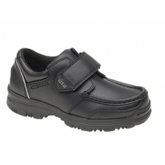 MARVIN Boys Velcro Bar Casual School Shoes Black