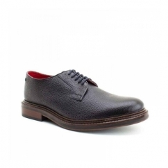MAUDSLAY Mens Grain Leather Derby Shoes Navy