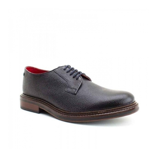 Base London MAUDSLAY Mens Leather Derby Lace Ups Suede Navy