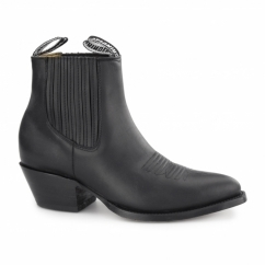 MAVERICK Unisex Leather Cuban Heel Chelsea Boots Black