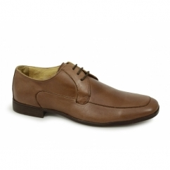 MAXFIELD Mens Leather Lace Up Office Shoes Tan