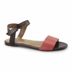 MEG RIVA Ladies Flat Sandals Coral