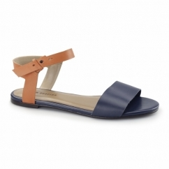 MEG RIVA Ladies Flat Sandals Navy