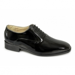 Mens Patent Leather Evening Oxford Shoes Black