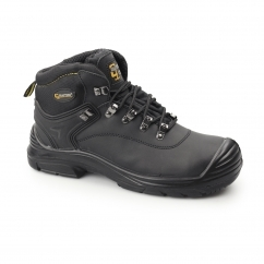 Mens S3 SRC WP Leather Super Wide Safety Boots Black