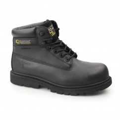 Mens SB SRA WP Leather Non Metal Safety Boots Black