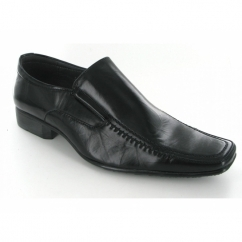 Mens Slip On Chisel Toe Shoes Black