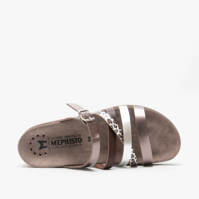 Mephisto AGAVE Ladies Womens Smooth Leather Touch Fasten Casual Sandals Taupe