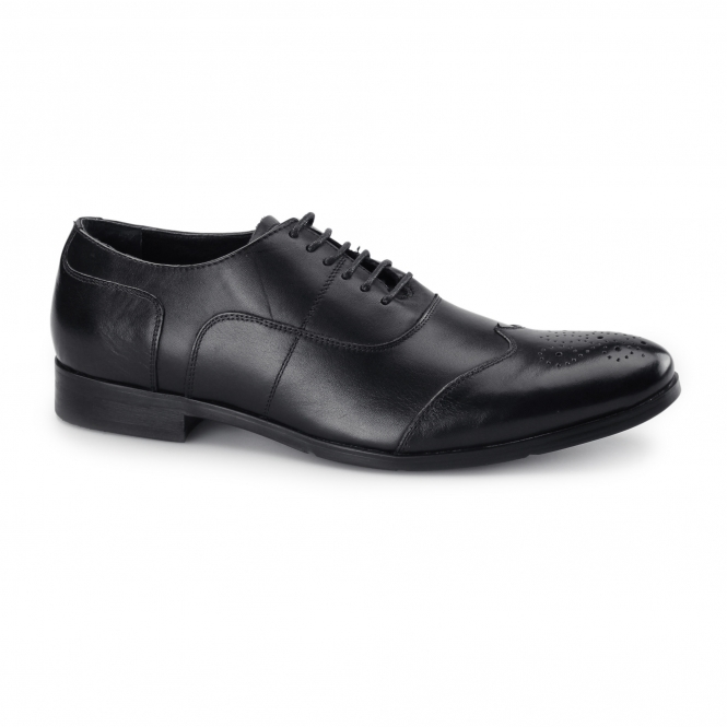 Azor MESSINA 2 Mens Leather Oxford Brogues Black